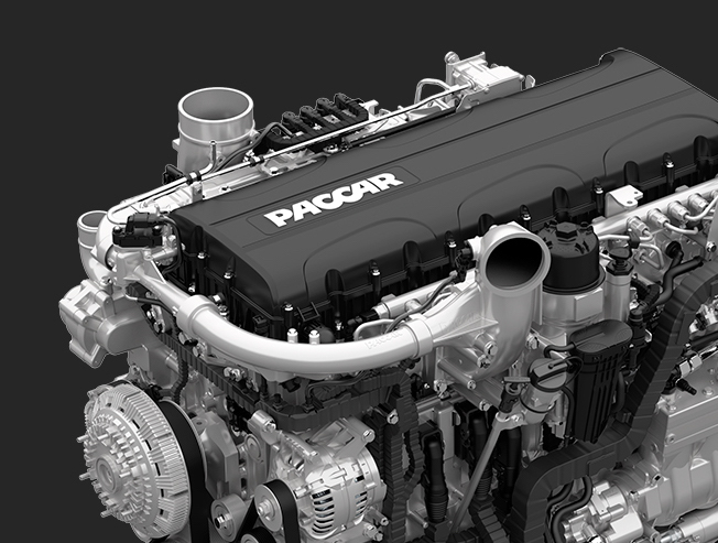 Closeup of Paccar engine