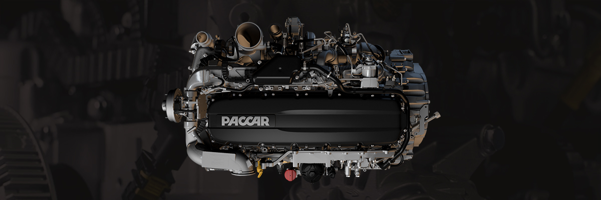 Top view of Paccar Mx engine